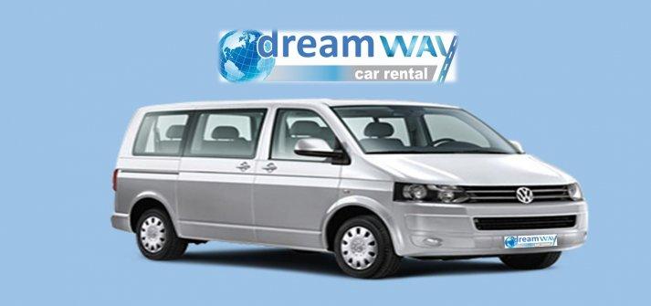 vw caravelle 9+1 passenger (pwmd) or similar - dream car rental